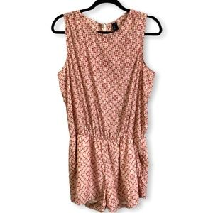 GAP Colorful Sleeveless Lined Romper Size L
